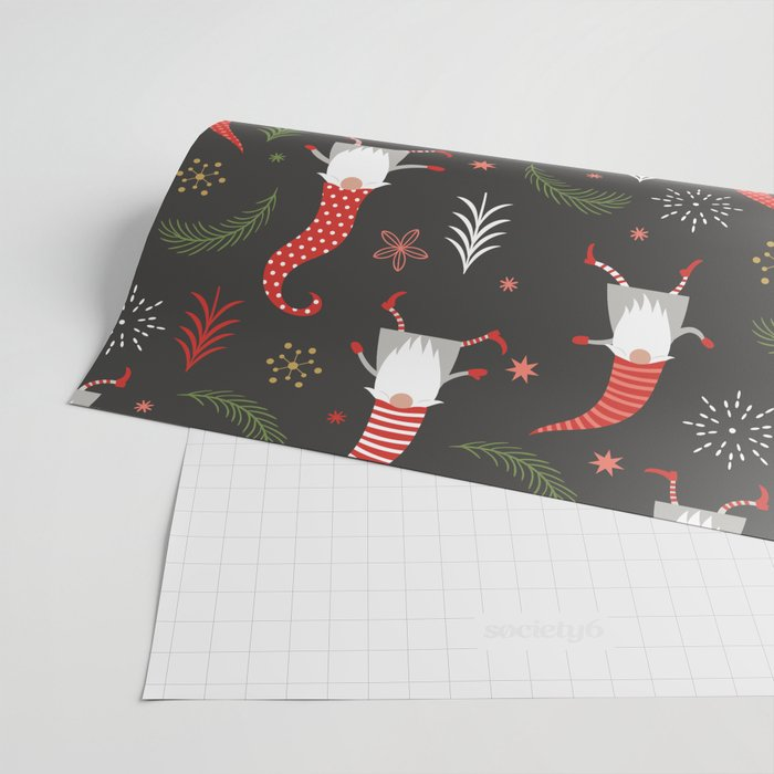 Cute Christmas Elves Wrapping Paper