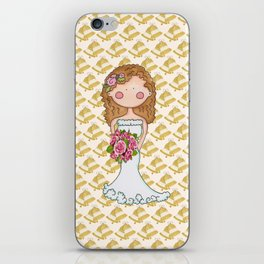 Wedding Bell Bride iPhone Skin