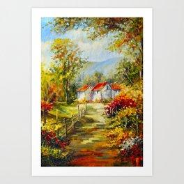 Autumn sonnet Art Print