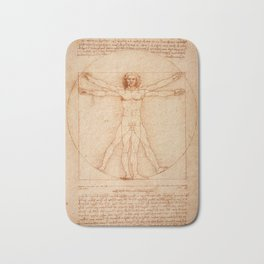 Vitruvian Man (Uomo Vitruviano) Leonardo da Vinci Bath Mat