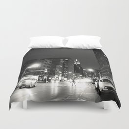 New York City at Night Duvet Cover