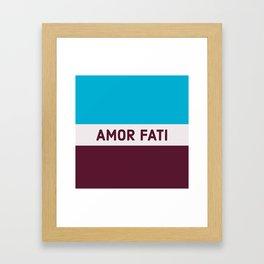 AMOR FATI - STOIC WISDOM Framed Art Print