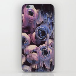 Floral Glitches iPhone Skin