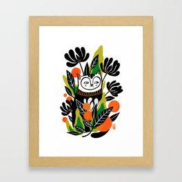 Mossy Cat Framed Art Print