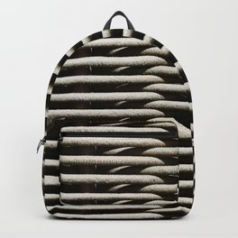 Background wicker wood rods Backpack