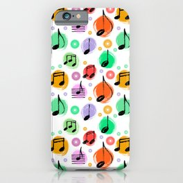 Music Pattern | Note Instrument Musical Listening iPhone Case