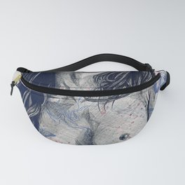 Nothing Violates This Nature: Blue (erotic drawing, nude butterfly girl) Fanny Pack
