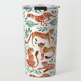Cheetah Collection – Orange & Green Palette Travel Mug