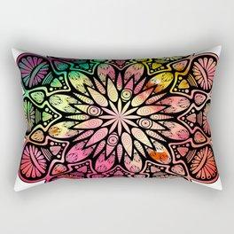 Psychedelic Mandala Rectangular Pillow