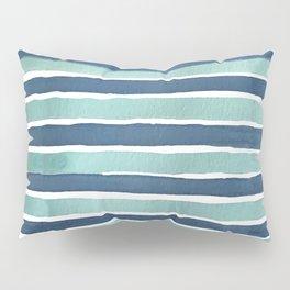 Aqua Teal Stripe Pillow Sham