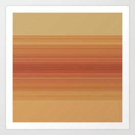 Orange Sunset Stripe Design Art Print