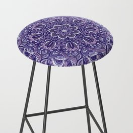 Great Purple Mandala Bar Stool