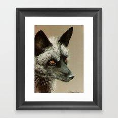 Silver Fox painting Framed Art Print