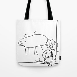 Maia and Pig by Maia Tote Bag
