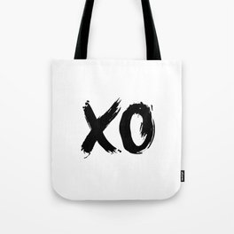 XO Hugs and Kisses black and white xoxo gift for her girlfriend bedroom art and home room wall decor Tote Bag
