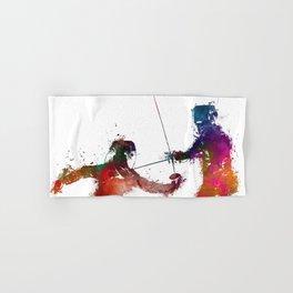 Fencing sport art #fencing Hand & Bath Towel