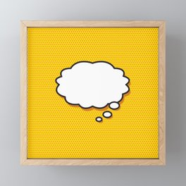 Comic Book THINK Framed Mini Art Print