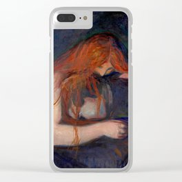 Edvard Munch - Love and Pain (The Vampire) Clear iPhone Case