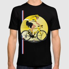 France Yellow Jersey Mens Fitted Tee MEDIUM Black