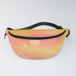 Digital Modern Yellow Abstract Design Fanny Pack