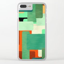 Levels, Mid Century Design Clear iPhone Case