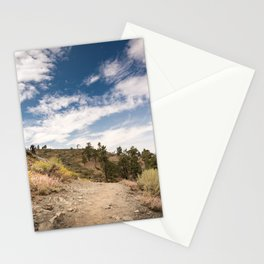 Hiking trail along Pacific Crest Trail in Southern California Stationery Cards