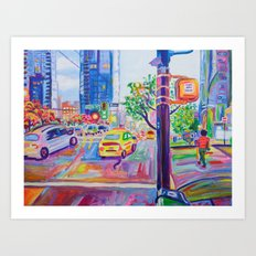 Wall Centre From Nelson And Burrard, Vancouver Art Print