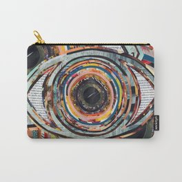Rainbow Eyes Collage Carry-All Pouch
