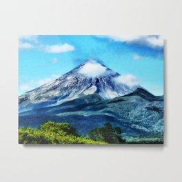 Mount Taranaki Metal Print