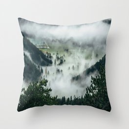 The Rolling Gray Throw Pillow