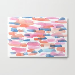 180527 Abstract Watercolour 5 | Watercolor Brush Strokes Metal Print