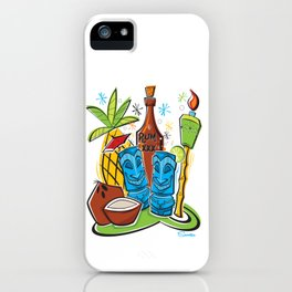 Tiki Hawaiian Happy Hour by Art of Scooter iPhone Case