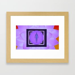 Growth is the center of your mandala Framed Art Print