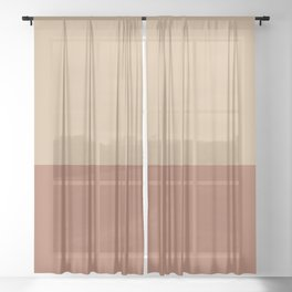 Earthy Horizon 2 Inspired by Sherwin Williams Cavern Clay Sw 7701 and Ligonier Tan SW 7717 Sheer Curtain