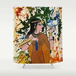 The Egyptian Enchantress by Michael Moffa Shower Curtain