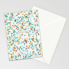 handmade coloured squares Stationery Cards
