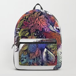 Hiding fox rainbow Backpack