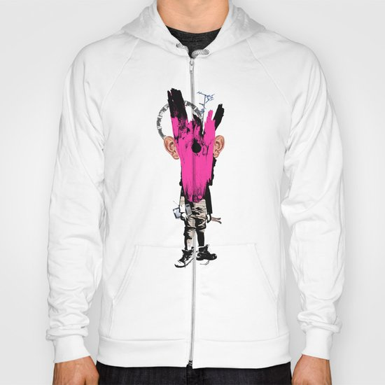 Crazy Pink Wooden Deer Head Kid Collage Hoody