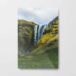 Subtle Skogafoss Metal Print