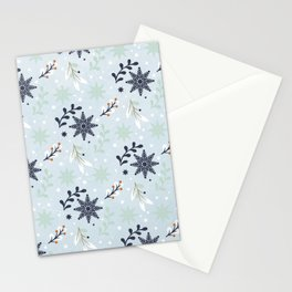 Winter pattern Stationery Cards