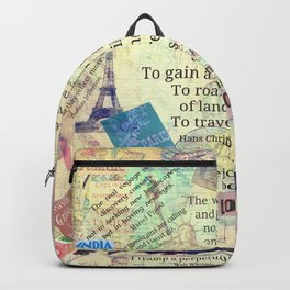 Travel Quotes Backpack