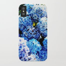 Blue flowers all summer  iPhone Case