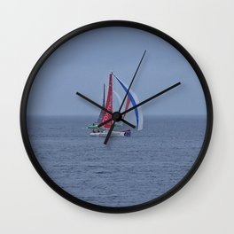 part 2 of 4 of Sailing Battle 42-56  - Transat Quebec St-Malo Wall Clock