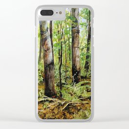 Forest Woods Vermont Landscape Clear iPhone Case