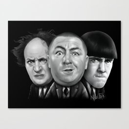 The Three Stooges Canvas Print