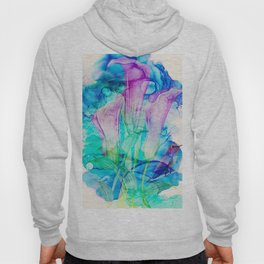 alcohol inks spring floral Hoody
