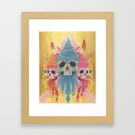 Sundae Skulls  Framed Art Print