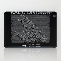joy division iPad Cases featuring Kaiju Division by pigboom el crapo