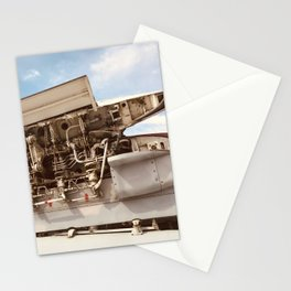 World War II Military Plane's Engine Stationery Cards