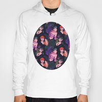 grimes Hoodies featuring Grimes repeat by Helen Green